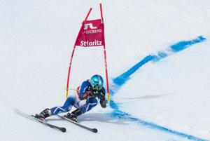 Slovenský lyžiar Matej Falat počas prvého kola obrovského slalomu mužov na MS v lyžovaní v St. Moritzi.