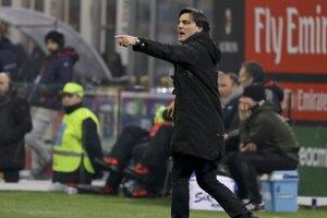 Vincenzo Montella priviedol cez víkend AC Miláno k triumfu 2:1 nad Fiorentinou.