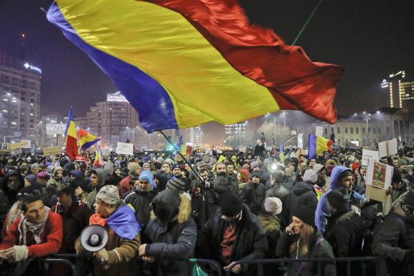 Protesty v Rumunsku.