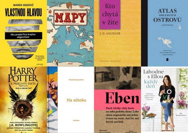 Obálky kníh.