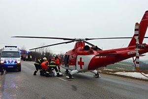 Posádka Vrtuľníkovej záchrannej zdravotnej služby (VZZS) ATE zasahovala pri Tupej.