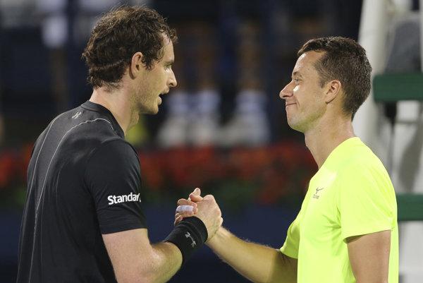 Andy Murray (vľavo) a Philipp Kohlschreiber.