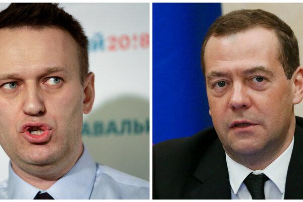 Navaľnyj a Medvedev.