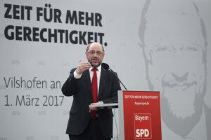 Sociálnodemokratický kandidát Martin Schulz.