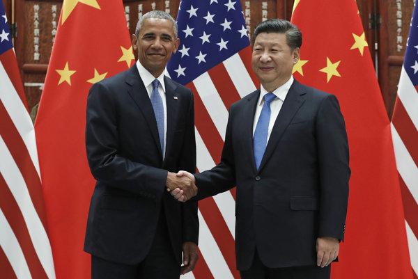 Bývalý americký prezident Barack Obama a čínsky prezident Si Ťin-pching,