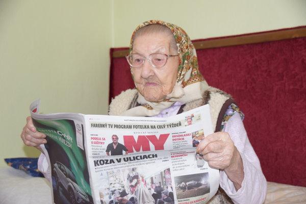 Stodvaročná Veronika sa stále zaujíma o to, čo sa deje nielen na Kysuciach, ale i vo svete.