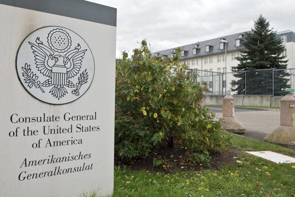 Americký konzulát v nemeckom Frankfurte.