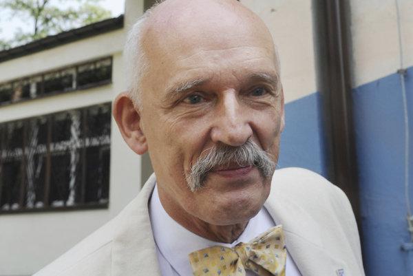 Poľský europoslanec Janusz Korwin-Mikke.
