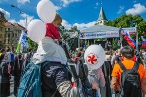 Pochod za život v Bratislave.