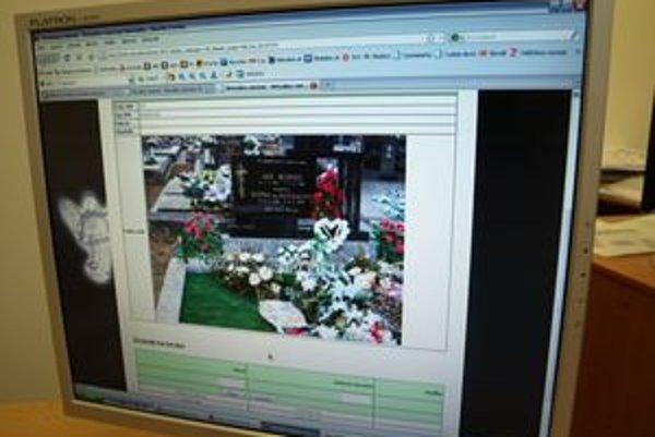 Virtuálny cintorín obsahuje podrobné informácie o každom hrobe.