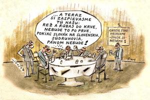 Súdruhovia oslavujú slovakštát (Vico)