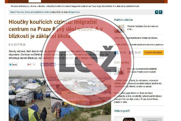 Hoax. Praha, utečenecký tábor. Calais. Parlamentné listy