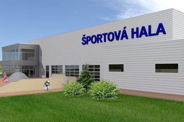 Vizualizácia haly s ľadovou plochou 40 x 20 metrov v Športovom centre pre deti a mládež. Návrh Ing. arch. MATÚŠ VARGA