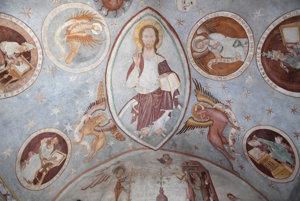 Fresky na strope a stenách