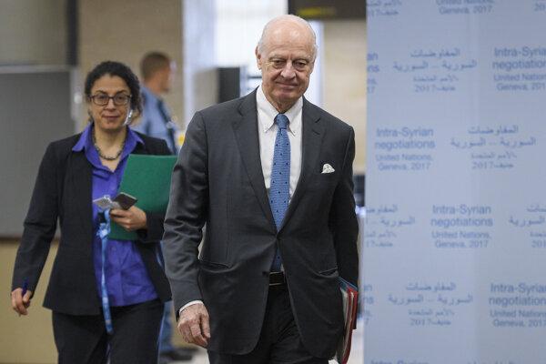 Osobitný vyslanec generálneho tajomníka OSN pre Sýriu Staffan de Mistura.