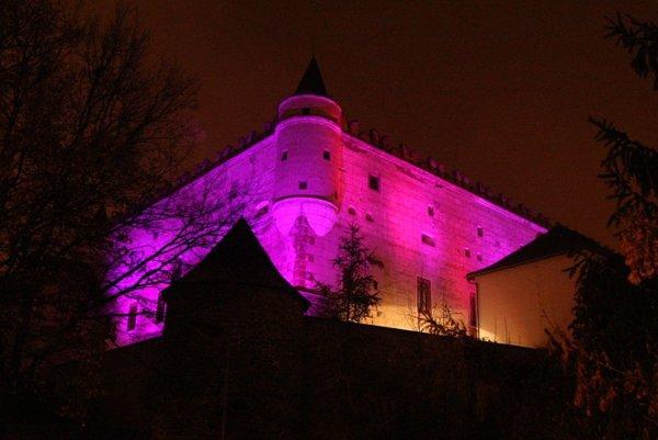 Vlani v novembri zažiaril zámok v purpurovej farbe, ktorá patrí Svetovému dňu predčasne narodených detí.