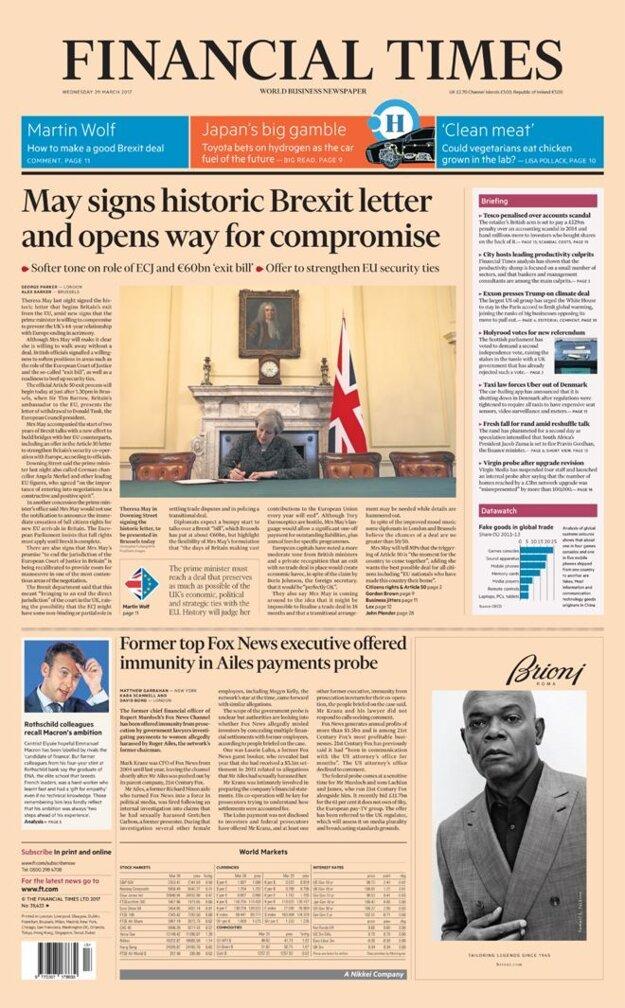 Financial Times píše o možných kompromisoch.