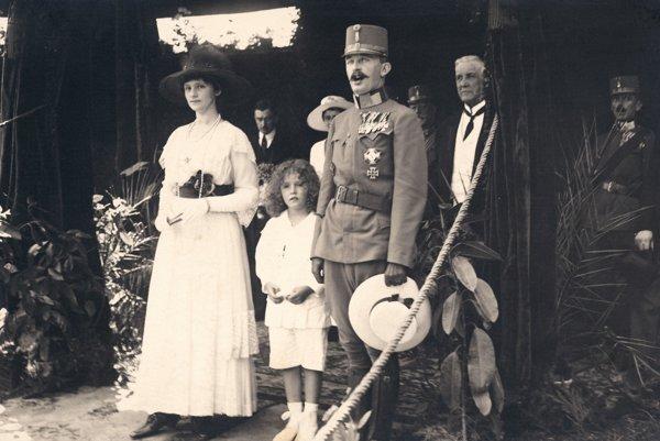Karol I. Habsburský a cisárovná Zita.