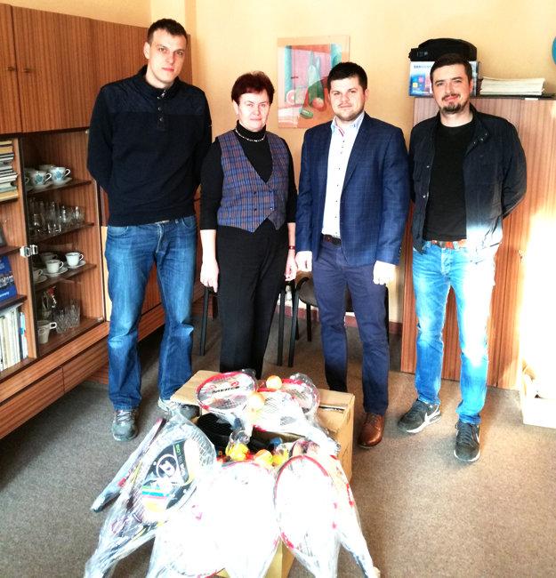 Zľava: Peter Strapáč, Viera Kubicová, Michal Varmus aPeter Stančík.
