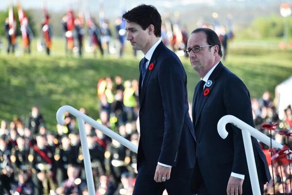 Francois Hollande a Justin Trudeau.