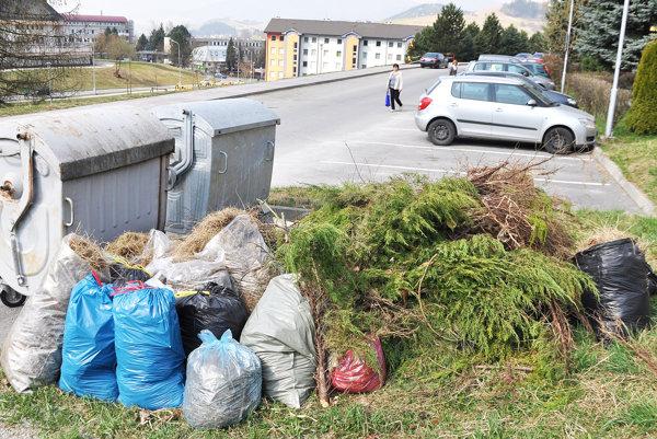 Bio odpad vytvorili počas jarnej brigády.
