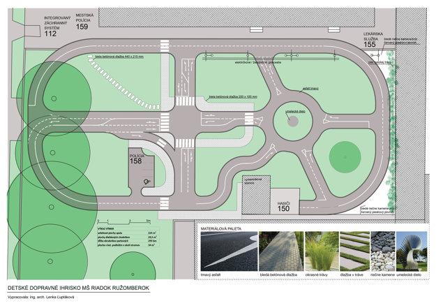 Projekt pripravili odborníci. Návrh urobil mestský architekt, značky naplánovali policajti. Dopravné ihrisko bude mať elektrické semafory apevnezabudované dopravné značky. Zaplní nevyužívanú plochu.