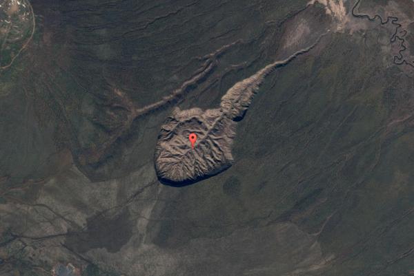 Kráter Batagajka.