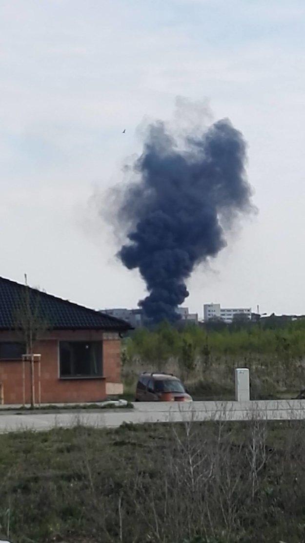Hustý dym bolo vidieť doďaleka.