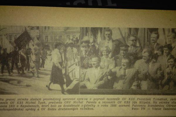 Z archívnych novín.