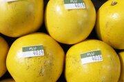 PLU kód na pomarančoch.