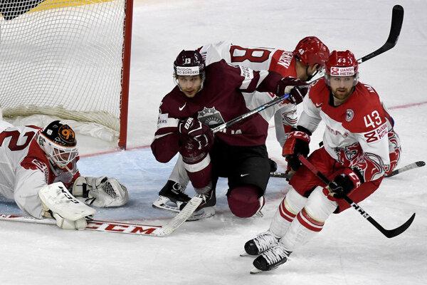 Lotyši vyhrávali v prvom zápase nad Dánskom.