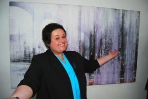 Výtvarníčka Daniela Trebatická vystavuje na domácej pôde.