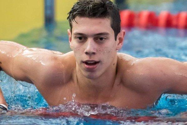 Adam Černek, jeden z najväčších plaveckých talentov Slovenska.