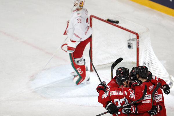 Švajčiari triumfovali nad Bieloruskom 3:0.