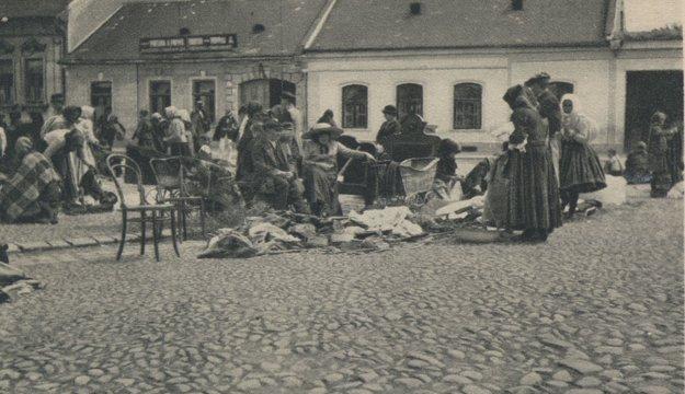 Na trhu v Košiciach.