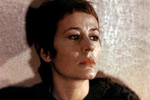 Annie Girardot ako nešťastná učiteľka vo filme Zomrieť na lásku.