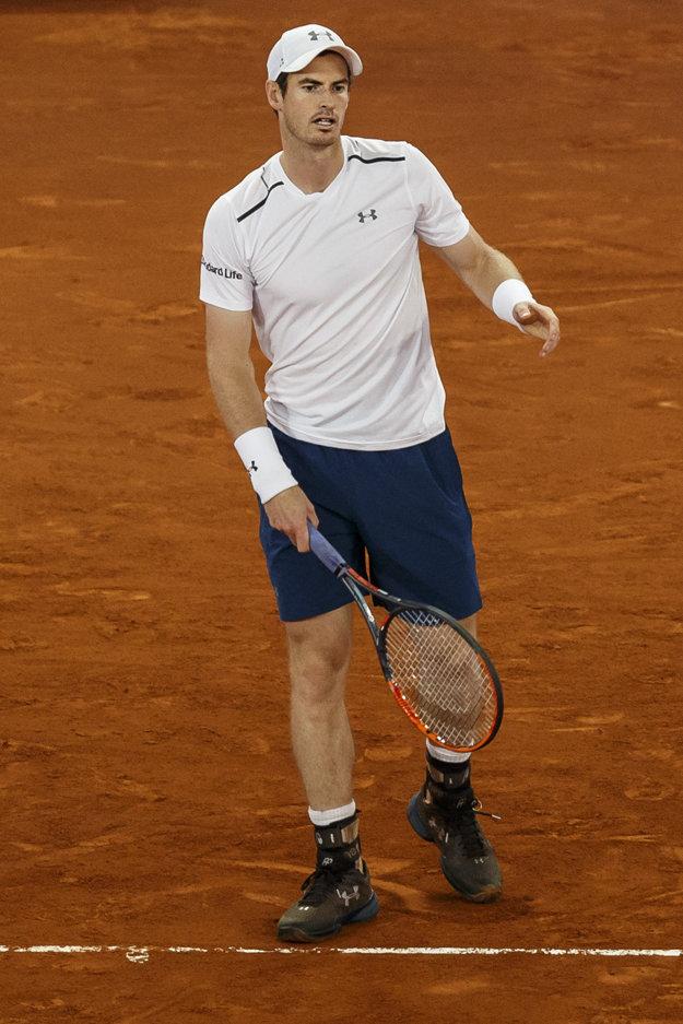 Andy Murray svoj zápas nezvládol.