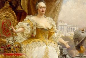 Mária Terézia v žltých šatách.