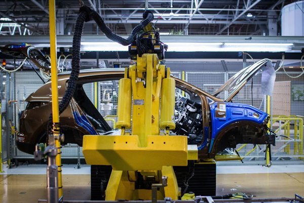 Výroba auta v žilinskom závode Kia Motors Slovakia.