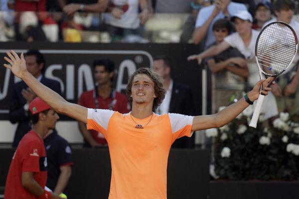 Alexander Zverev po triumfe nad Novakom Djokovičom.