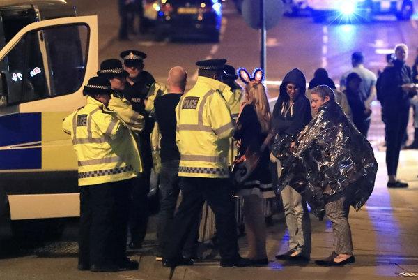 Manchester krátko po teroristickom útoku.