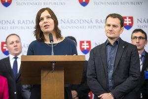 Veronika Remišová a Igor Matovič.
