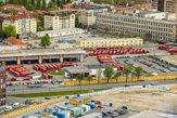 Autobusová stanica či podhradie z výšky. Bratislava, ako ju len tak neuvidíte