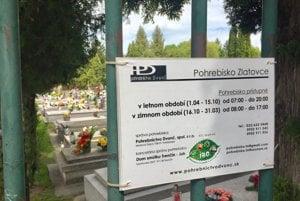 Cintorín v Zlatovciach.