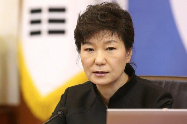Juhokórejská prezidentka.