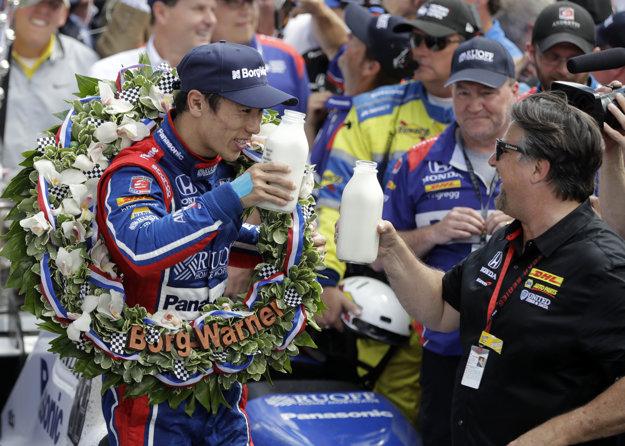 Takuma Sato, víťaz pretekov.