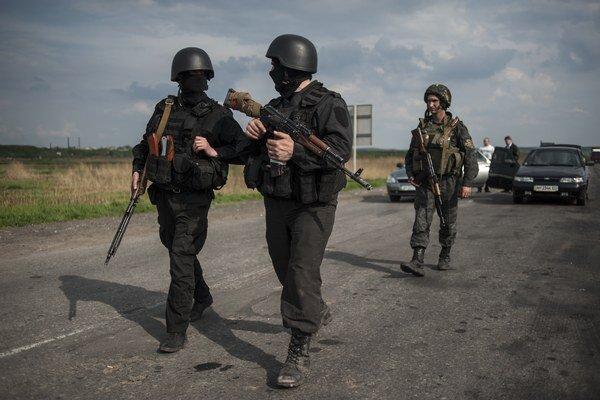 Ukrajinskí vojaci pri Sloviansku.