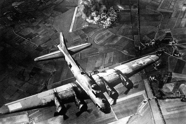 Bombardovanie Nemecka.