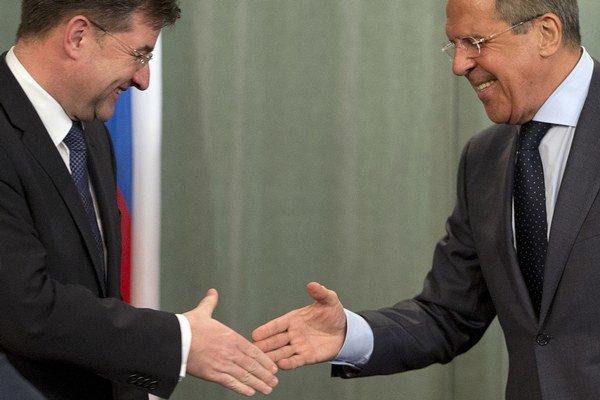 Miroslav Lajčák a Sergej Lavrov.