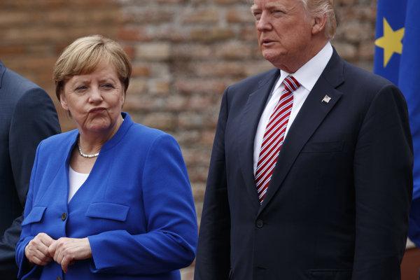 Angelová Merkelová a Donald Trump